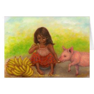 Little Banana Seller Blank Card