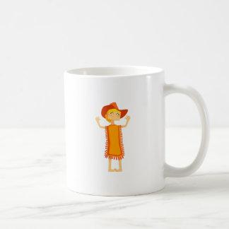 Little Barefoot Girl Wearing A Poncho And Cowboy H Coffee Mug