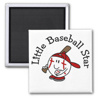 Little Baseball Star Tshirts and Gifts 2 Inch Square Magnet