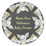 Little Bat Baby Shower Plates