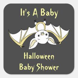 Little Bat Baby Shower Stickers