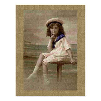 Little Bay Girl Postcard
