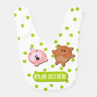 Little Bear and Piggie Customizable Baby Bib