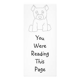 Little Bear Bookmark Template Rack Card