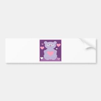 little bear bumper sticker