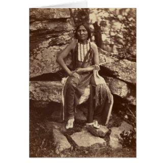 Little Bear, Cheyenne, 1875 Greeting Card