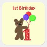 Little Bear First Birthday Stickers