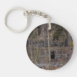 Little Bear in Big Forest Single-Sided Round Acrylic Keychain