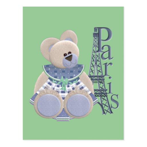 Little Bear in Paris Postcard