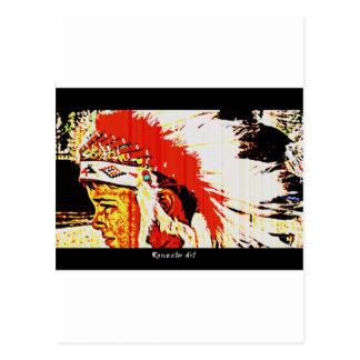 Little Bear Indian Postcard