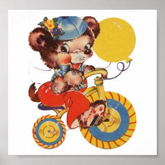 Little Bear on Trike Poster