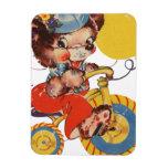 Little Bear on Trike Vinyl Magnets