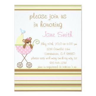 Little Bear Pink Baby Shower Invitation