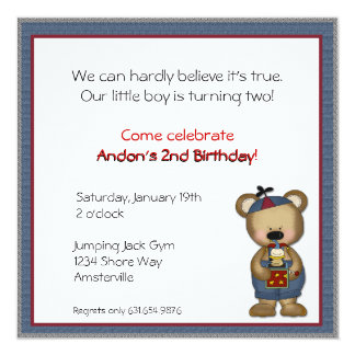 Little Bear with Jack in theBox Invitation