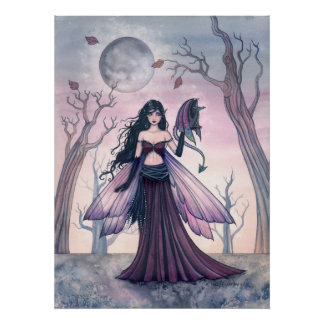 Little Beast Fairy with Dragon Poster