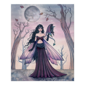 Little Beast Fairy with Dragon Poster 18 x 22