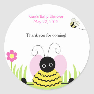 Little Bee Bumble Bees Baby Shower Favor Sticker