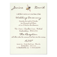 Little Bee Rustic Wedding Invitation