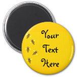 Little Bees 2 Inch Round Magnet