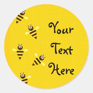 Little Bees Classic Round Sticker