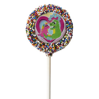 little best friends - unicorn and dragon chocolate covered oreo pop