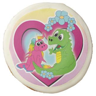 little best friends - unicorn and dragon sugar cookie