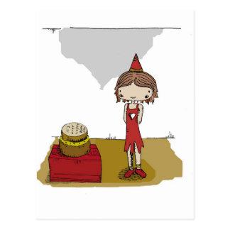 Little Big Girl - Birthday Postcard