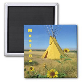 Little Big Horn Tipi Travel Souvenir Magnet