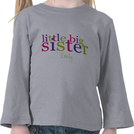 little big sister t shirts zazzle. Black Bedroom Furniture Sets. Home Design Ideas