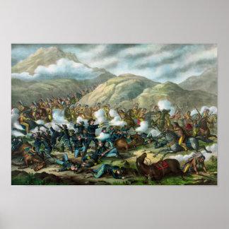 Little Bighorn - el soporte pasado de Custer Póster