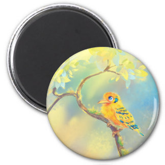 Little Bird 2 Inch Round Magnet