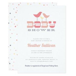 Little Bird Baby Shower Invitation - Pink