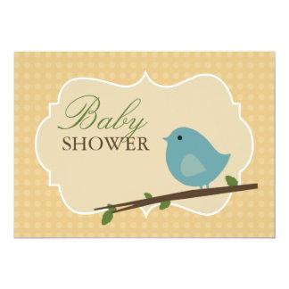 "Little Bird Baby Shower Invitations 5"" X 7"" Invitation Card"