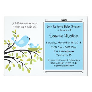 Bird Baby Shower Invitations Announcements Zazzle