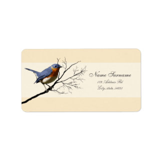 Little Bird Blue, address labels Address Label