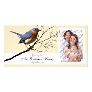 Little Bird Blue, customizable Photo Card