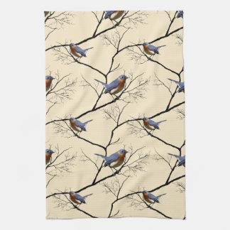 Little Bird Blue, patterned kitchen towel