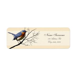 Little Bird Blue, return address labels Return Address Label