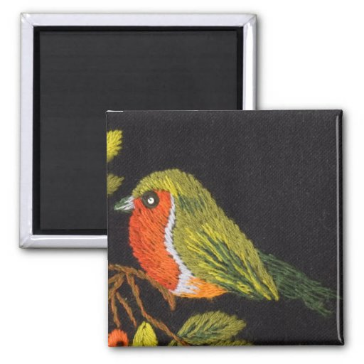 Little Bird Collection 2 Inch Square Magnet