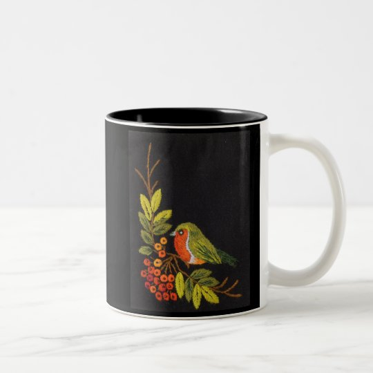 Little Bird Collection Two-Tone Coffee Mug