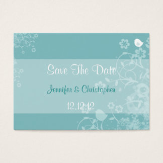Little Bird Floral - Teal & White Business Card