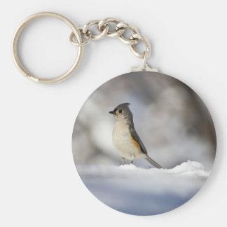 Little Bird in the Snow Keychain