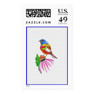 """""""Little Bird Of Many Colors"""" U.S. Postage Stamps"""
