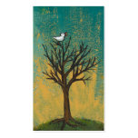 Little bird sings fun pretty original art painting Double-Sided standard business cards (Pack of 100)