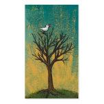 Little bird sings fun pretty original art painting business card template