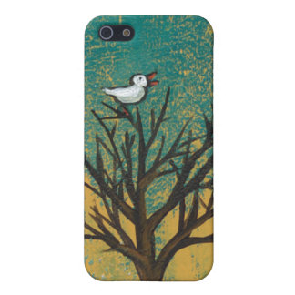 Little bird sings fun pretty original art painting cover for iPhone SE/5/5s