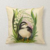 Little Bird Vintage Pillow
