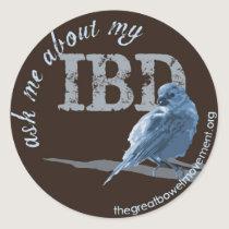 Little Birdie Asks About IBD Classic Round Sticker