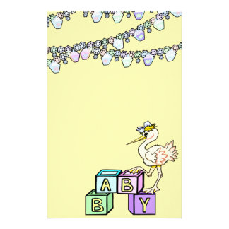 Little Birdie Baby Shower In Yellow Stationery