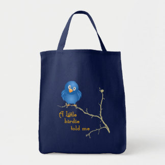 Little Birdie Momism Grocery Tote Canvas Bags